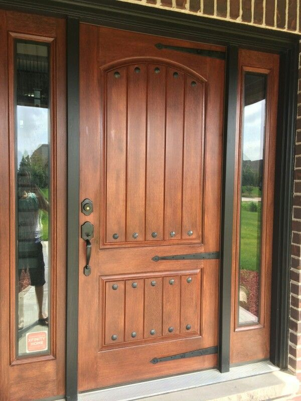 Front Door With Metal Bolts And Straps Rustic Front Door Front Door Design Rustic Doors