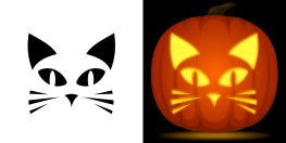 pumpkin template cat face  Easy Cat Pumpkin Stencil | Cat pumpkin carving, Easy pumpkin ...