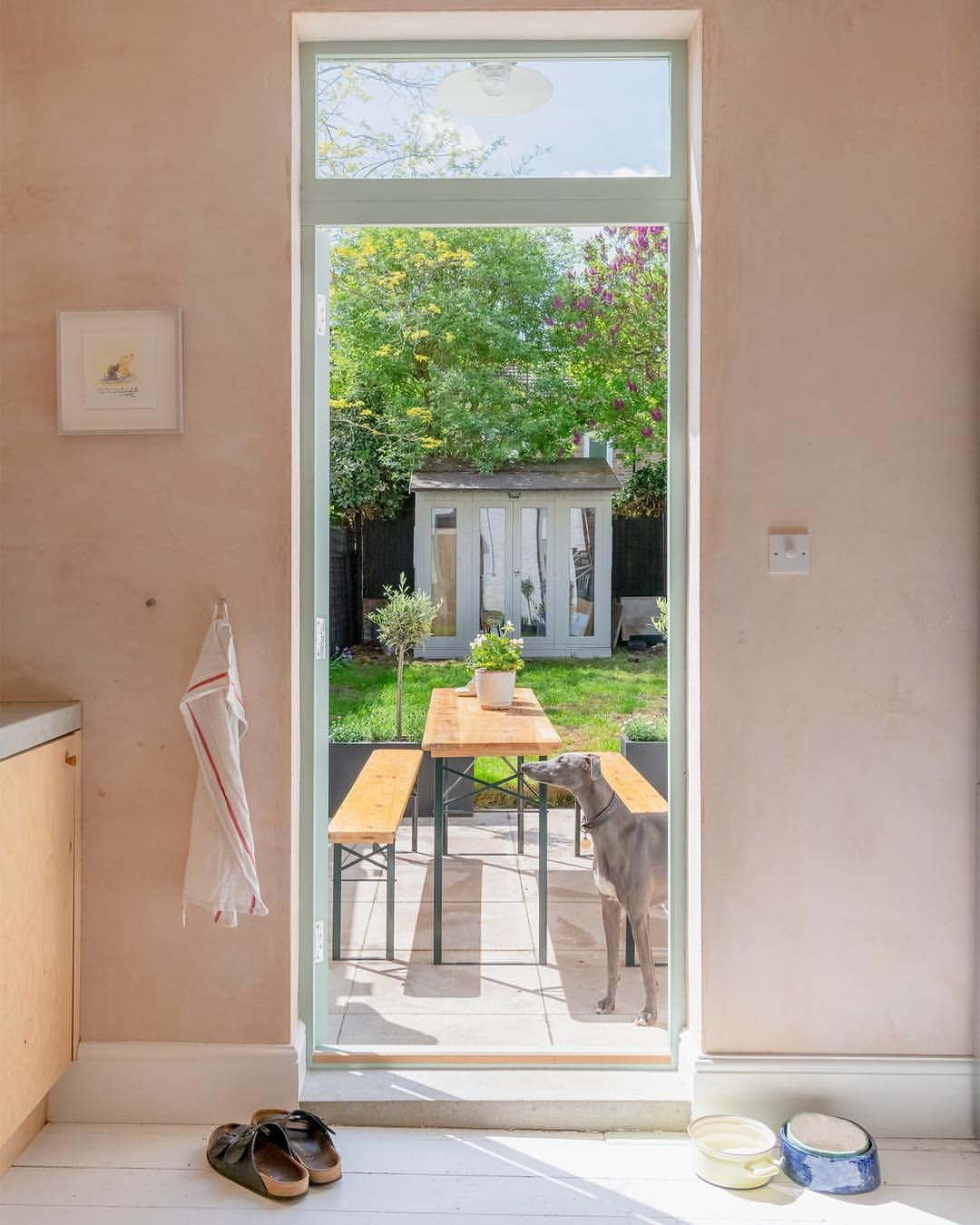 A charming al fresco dining space where we wouldn't mind