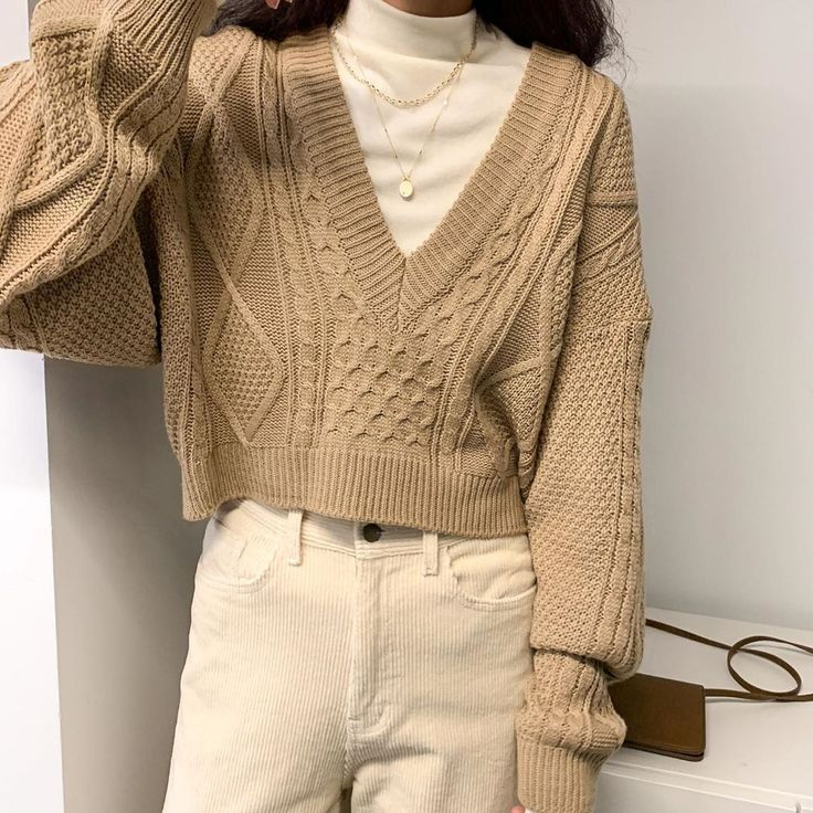 "Photo of OAK + FORT on Instagram: ""Give your look with this shortened knitted sweater with …"