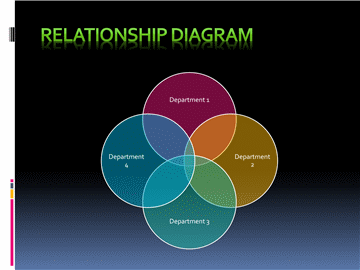 Relationship Diagram In Circle Shape And Black Background  Free