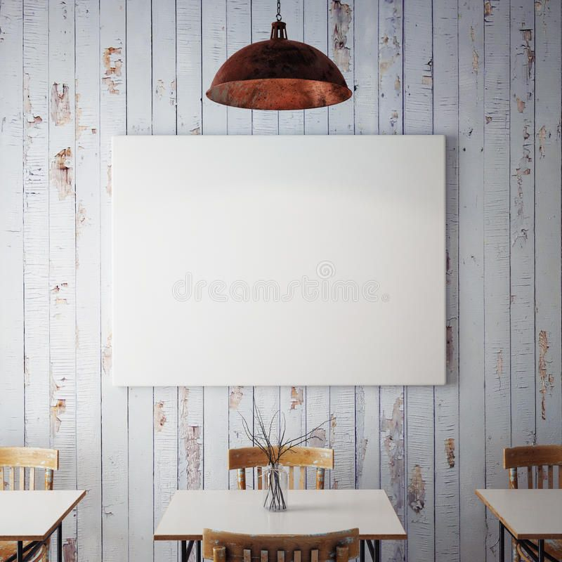 Mock Up Posters With Retro Hipster Cafe Restaurant Interior Background 3d Rende Spon Retro Hipste Restaurant Interior Cafe Restaurant Stock Images Free