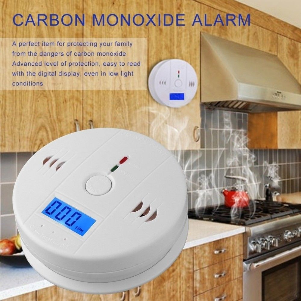 Back To Search Resultssecurity & Protection Co Carbon Monoxide Smoke Detector Alarm Poisoning Gas Warning Sensor Security Poisoning Alarm Lcd Photoelectric Detectors