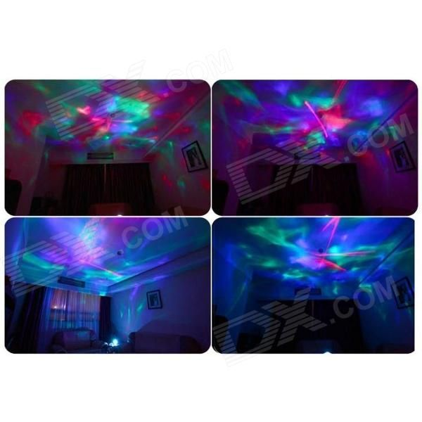 Beautiful ColorDiamond Aurora Borealis Projector Lamp W/ Speaker   White
