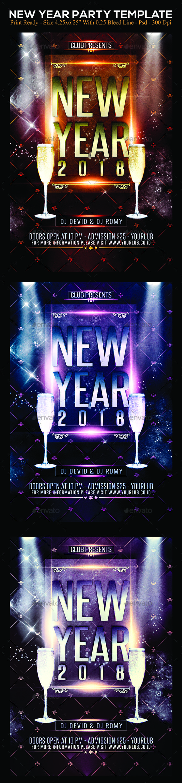 New Year Party  Party Flyer Flyer Template And Template