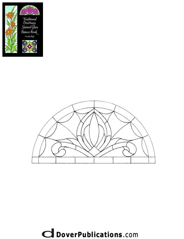 Stained Glass Patterns for FREE ★ glass pattern 415