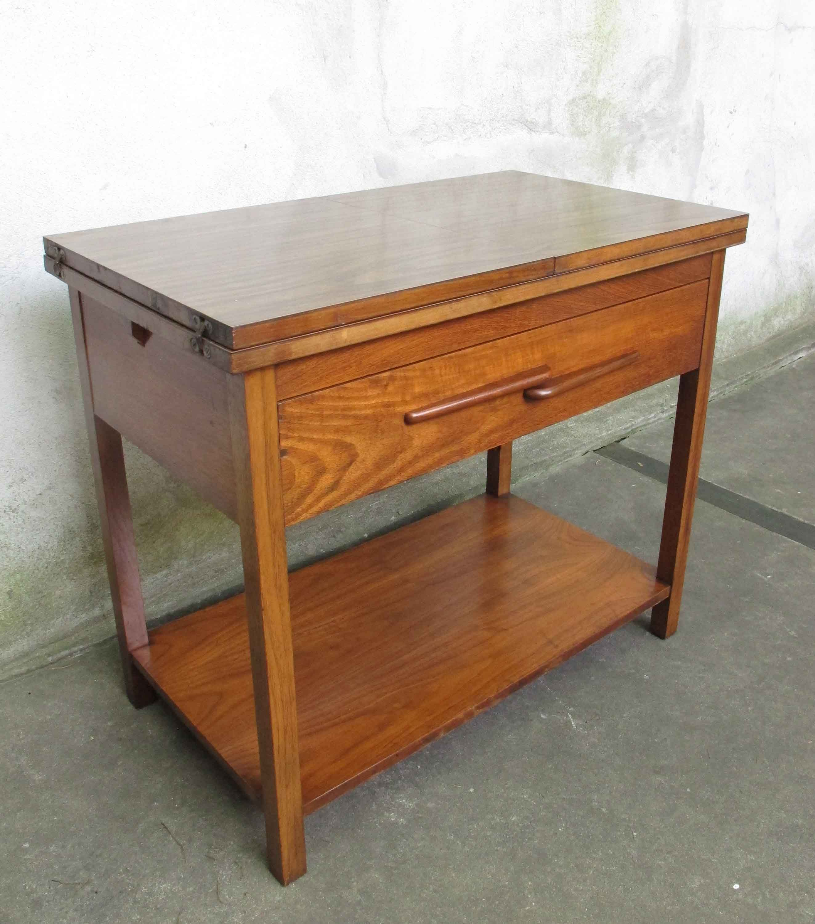 mid century modern walnut fold out server stand sold items adverts
