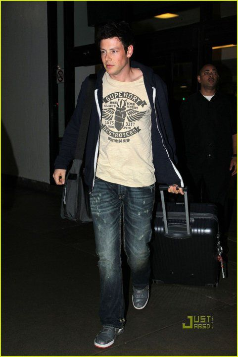 Cory Monteith, star of Glee, looking sexy in Superdry!