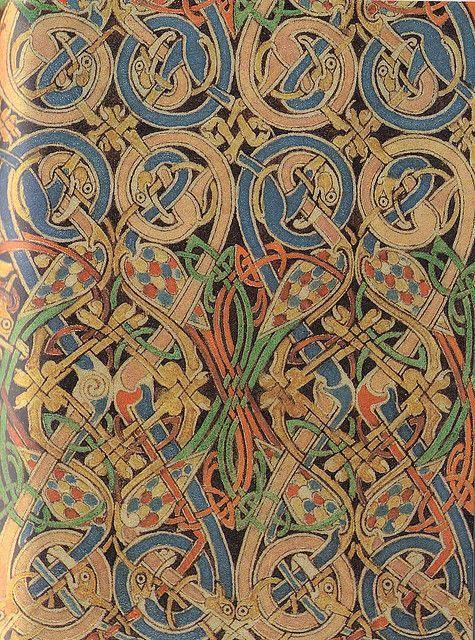 Lindisfarne Gospels St Matthew Carpet Page Detail