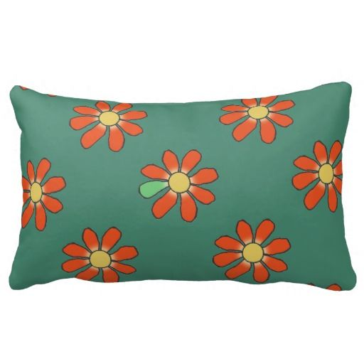 Red Floral Diversity Pillow