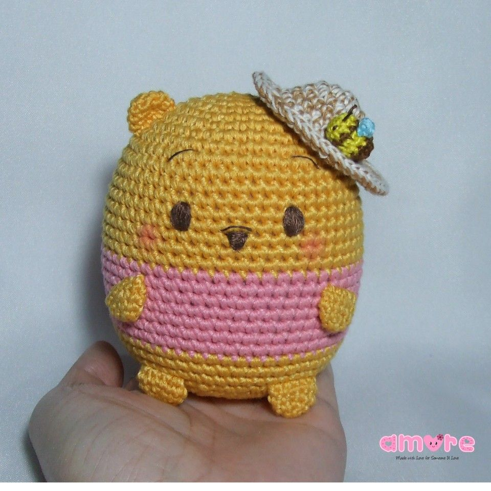 Amigurumi tsum tsum ufufy pooh   Amigurumi ^.^   Pinterest