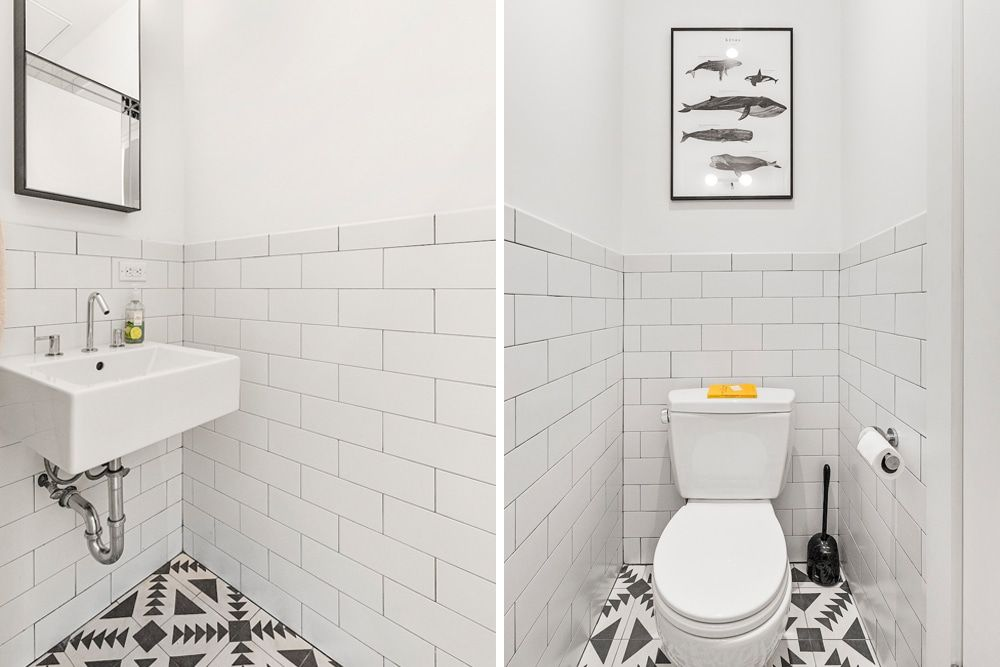 Converting A Full Bathroom Into A Powder Room Also Known As A Half Bath On The Second Floor Of T Bathrooms Remodel Diy Bathroom Decor Budget Bathroom Remodel