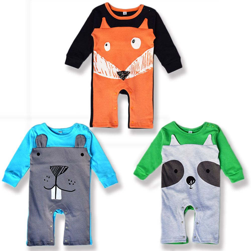 >> Click to Buy << Fashion Baby Clothes Cute Cartoon Animal Printed Baby Boy Girl Rompers Cotton Long-sleeve Infant Costume Newborn Baby Jumpsuit   #Affiliate