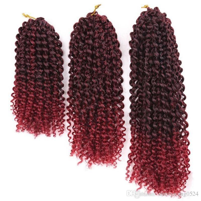 T1bbug Afro Culry Crochet Braids Hair Extensions Kinky Twist