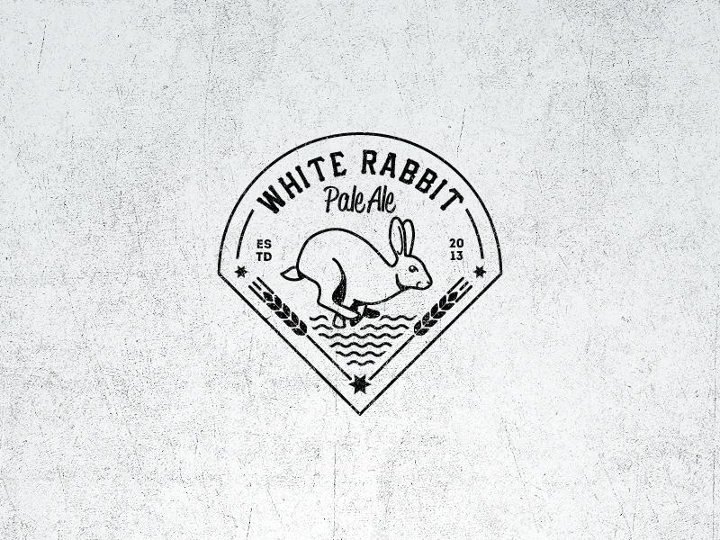White Rabbit Pale Ale Vintage Logo Vintage Logo Graphic Design Logo Logo Design