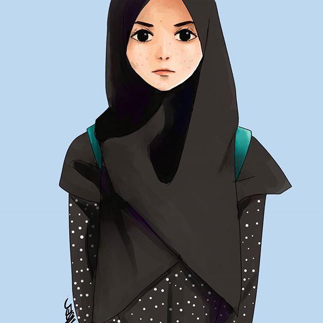 Hijab Drawing Tution Pejuang Wanita Kartun Hijab Gambar