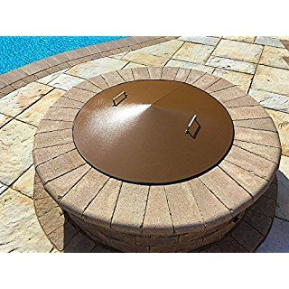 37 Round Wood Gas Metal Fire Pit Campfire Ring Cover Lid Spark Screen Fire Pit Cover Fire Pit Materials Fire Pit Images