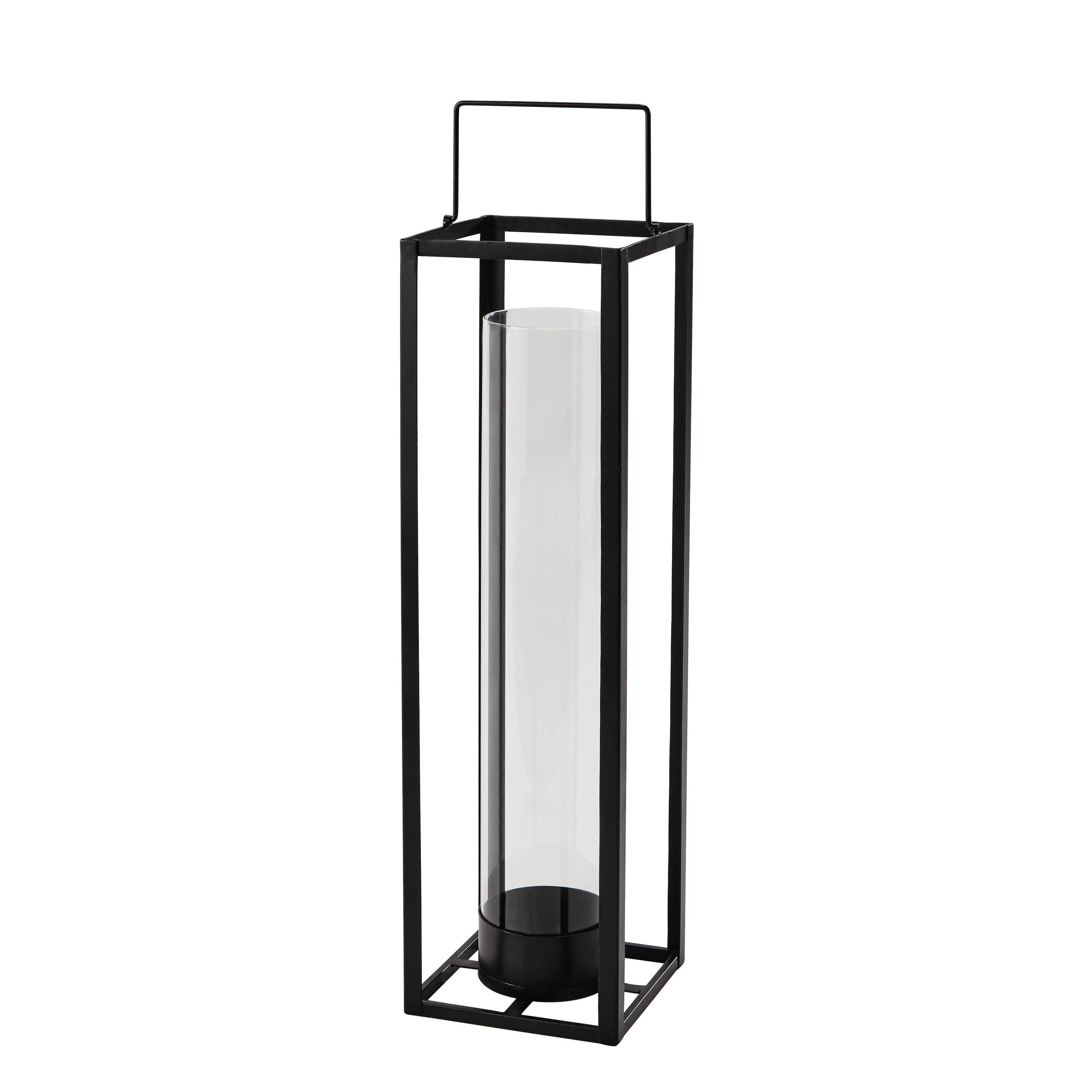 Maison Du Monde Lanterne.Lanterne En Metal Noire H 69 Cm