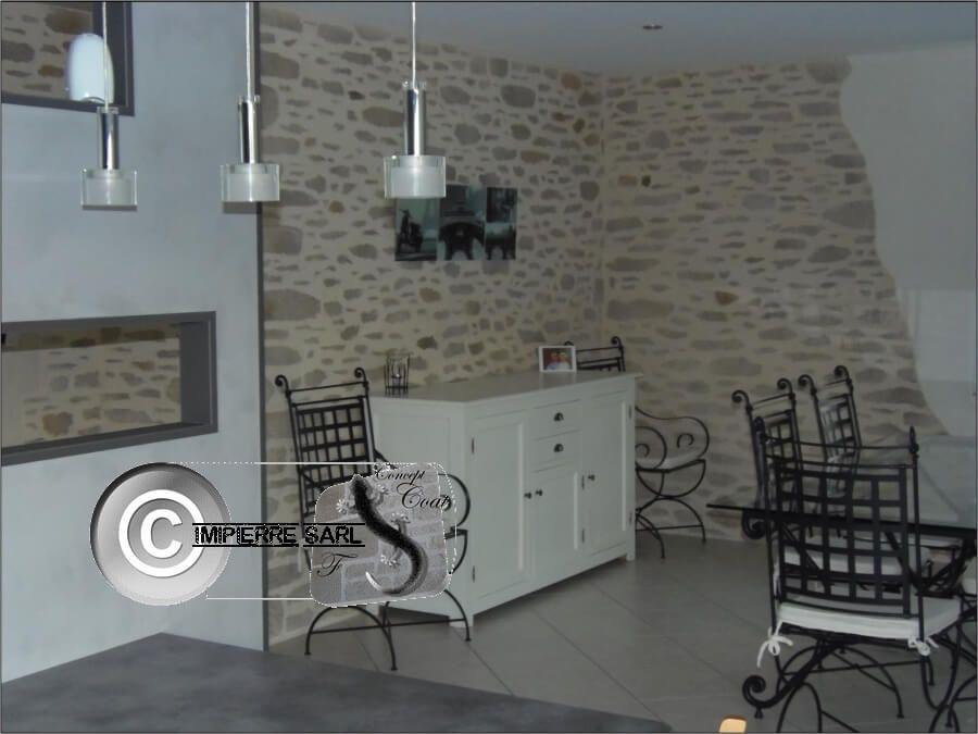 D coration murale imitation pierre la chaux mieux que - Enduit a la chaux interieur ...