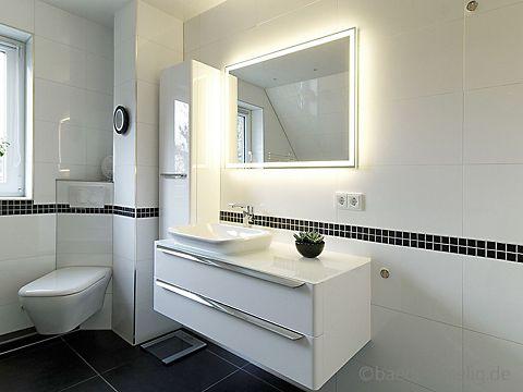 Badezimmer Led ~ Großzügiger waschtisch mit led lichtspiegel badezimmer