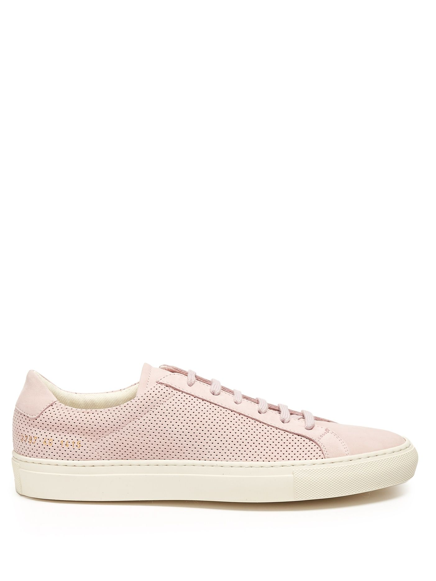 61dba33a79ad Click here to buy Common Projects Achilles low-top perforated-leather  trainers at MATCHESFASHION.COM