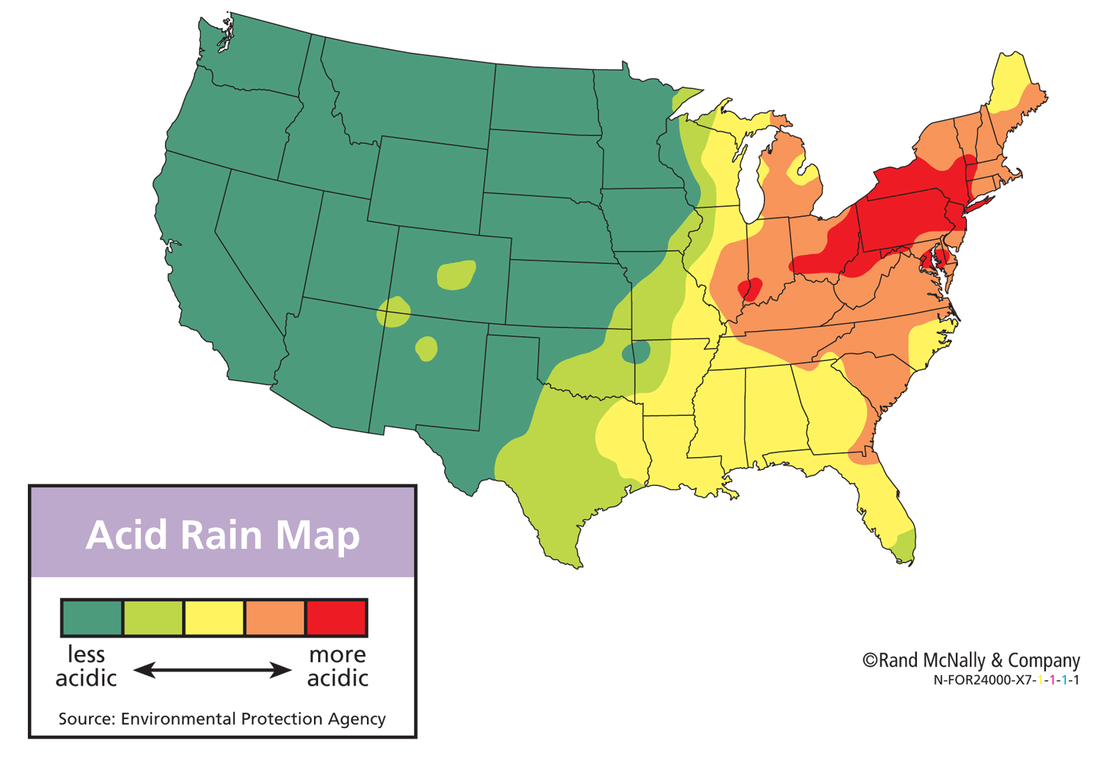 rain fall us maps united states acid rain map map tools print