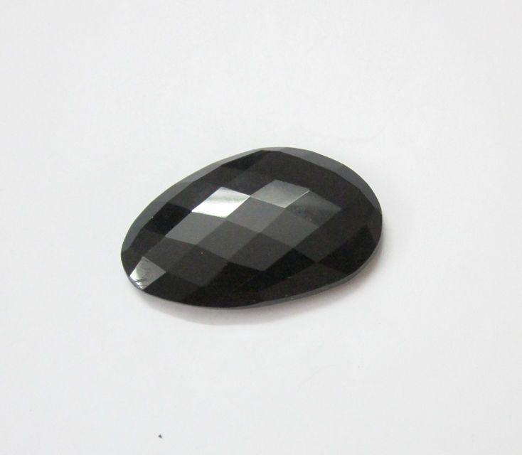 Black Onyx Opaque Genuine Loose Gemstone For Jewelry / 1 Pcs.  US - 1725 #SilvestoIndia