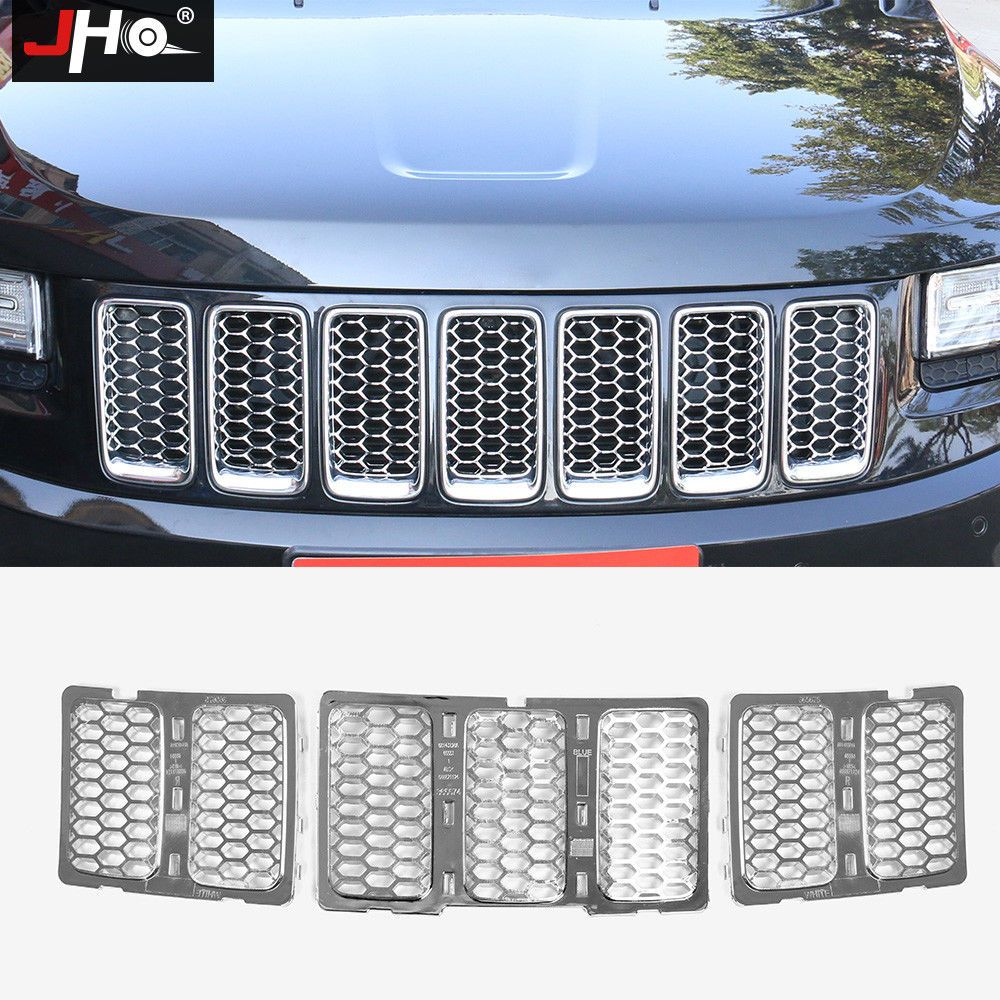 For Jeep Grand Cherokee 2014 2016 Chrome Front Grill Mesh Grille