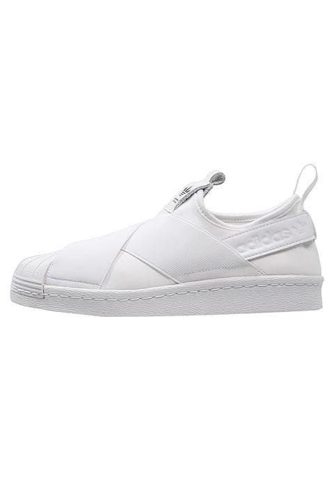 adidas Originals SUPERSTAR - Instappers - white/core black - Zalando.nl