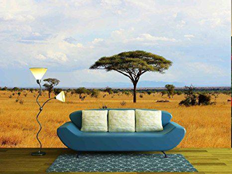 Wall26 African Savanna Landscape In Kenya Removable Wall Mural Self Adhesive Large Wallpaper Canvas Art Wall Decor Landscape Walls Removable Wall Murals