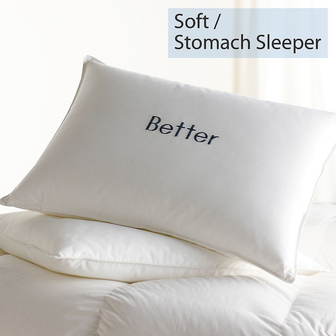 Down Feather Soft Stomach Sleeper Better Pillows Best Pillow Best Bed Pillows Feather Pillows