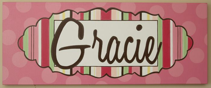 Bright And Fun Hand Painted And Personalized Art For A