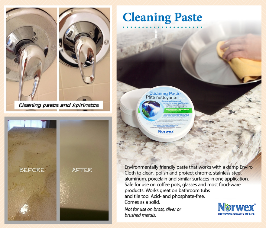 how to clean inside of bathtub with norwex cleaning paste