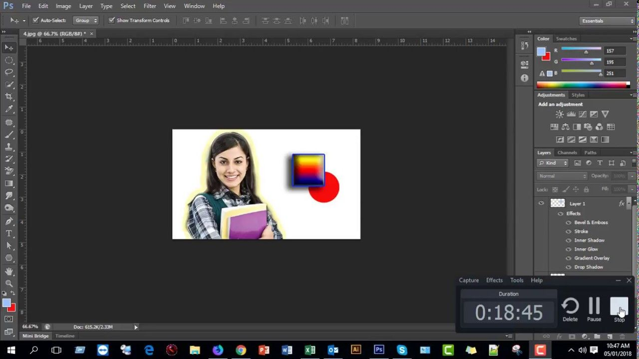 Panel (Layer Style) Part06 tutorial
