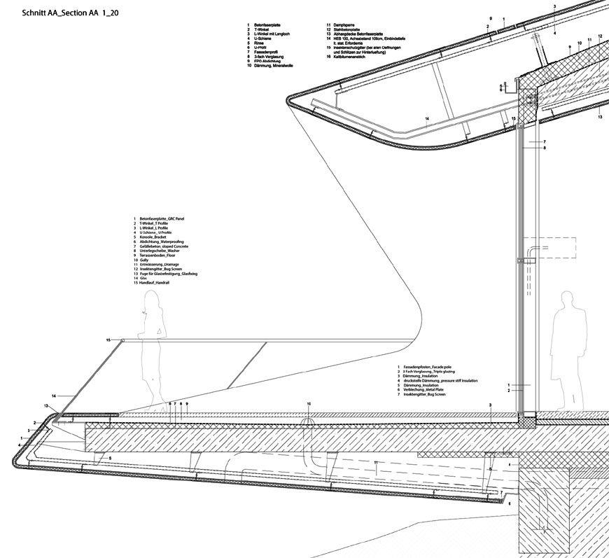 MMM Corones Museum Zaha Hadid terrace detail 01 Railing details