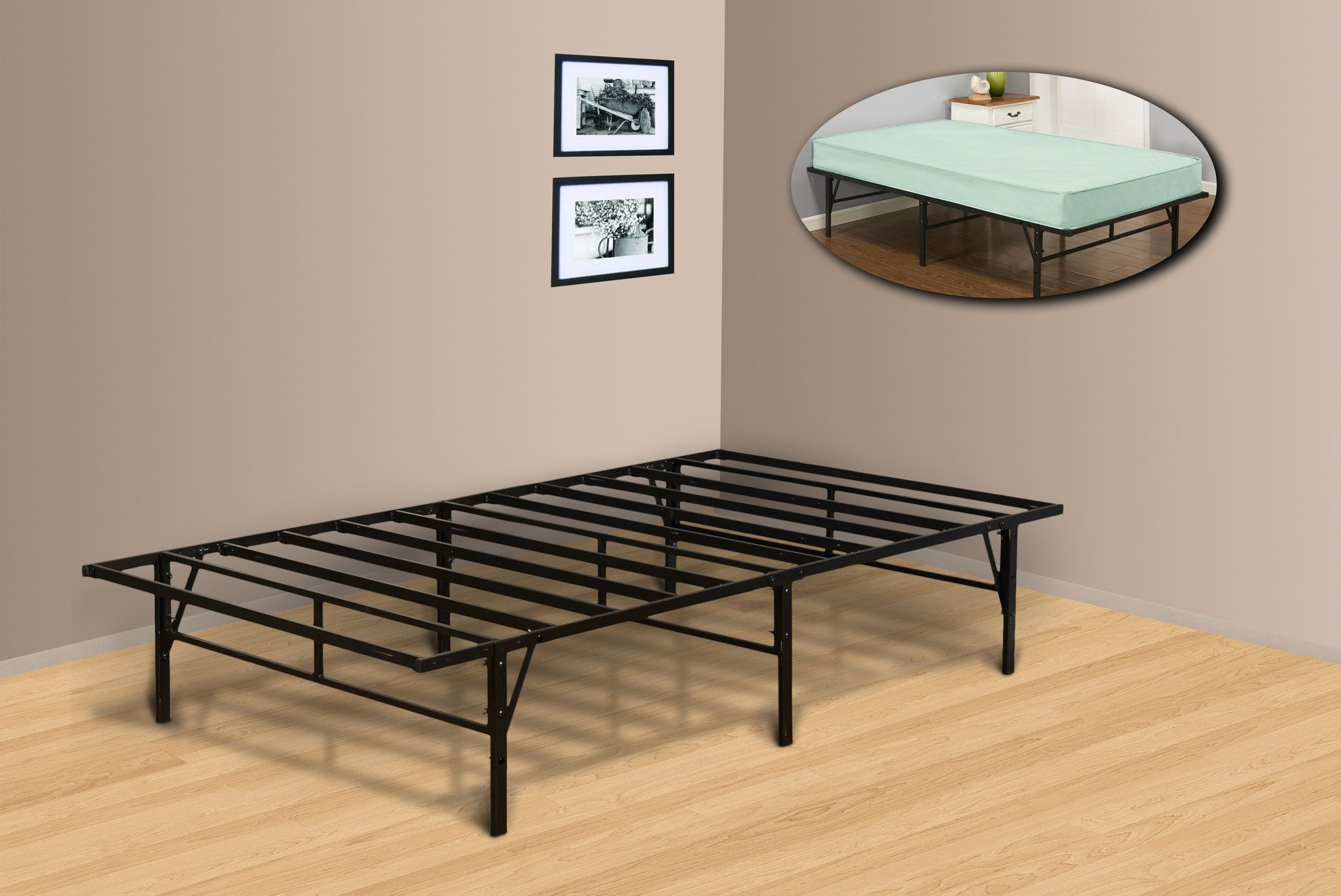 Vistoso Cama Alta Muebles Twin Marco Ideas Ornamento Elaboración ...