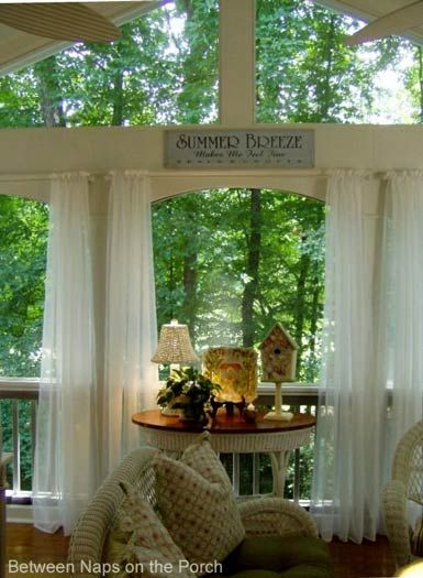 screened porch sheer curtains. Love The Curtains On Screened Porch. Porch Sheer
