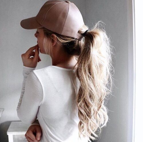 Girl Hair And Fashion Image Sporty Hairstyles Hat Hairstyles Long Hair Styles