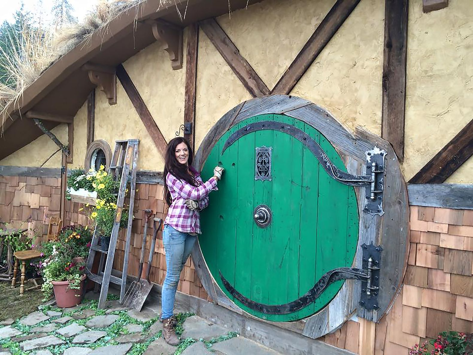 Washington Hobbit Hole is the first of three in an off-grid Shire