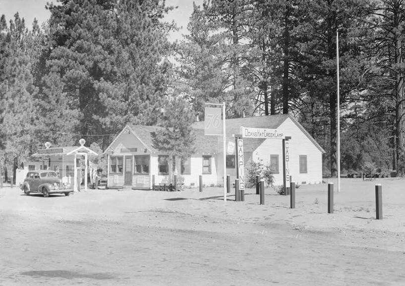 Doan S Resort Hat Creek Ca 1942 National Parks Gone Fishing Trailer Park