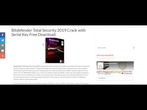 Bitdefender Total Security 2019 Crack with Serial Key Free Download