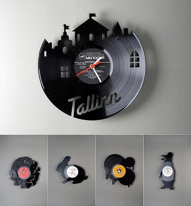 Beautiful vinil clock