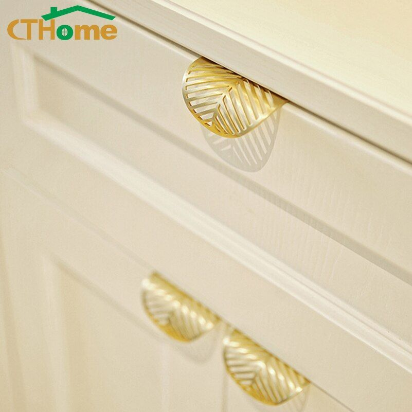 Leaf Shaped Cabinet Pull Handle Kitchen Furniture Drawer Door Knobs Handles Knob