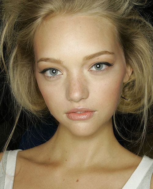 Gemma Ward - love the whole fresh-faced look. Just some eyeliner, blush and a lip tint
