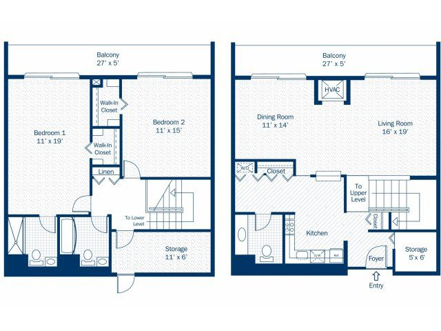 2 bedroom 2 bath floor plan of property detroit city apartments luxury apartment living with 2 bedroom apartments in downtown detroit