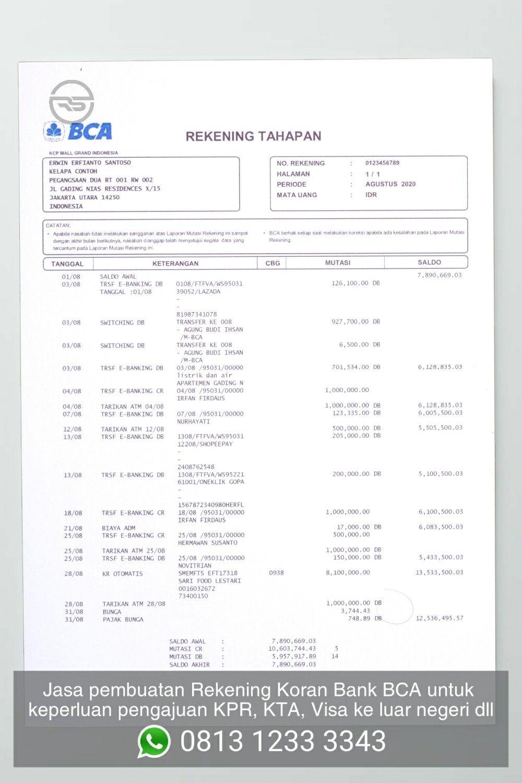 Print Rekening Koran Bca : print, rekening, koran, Rekening, Koran