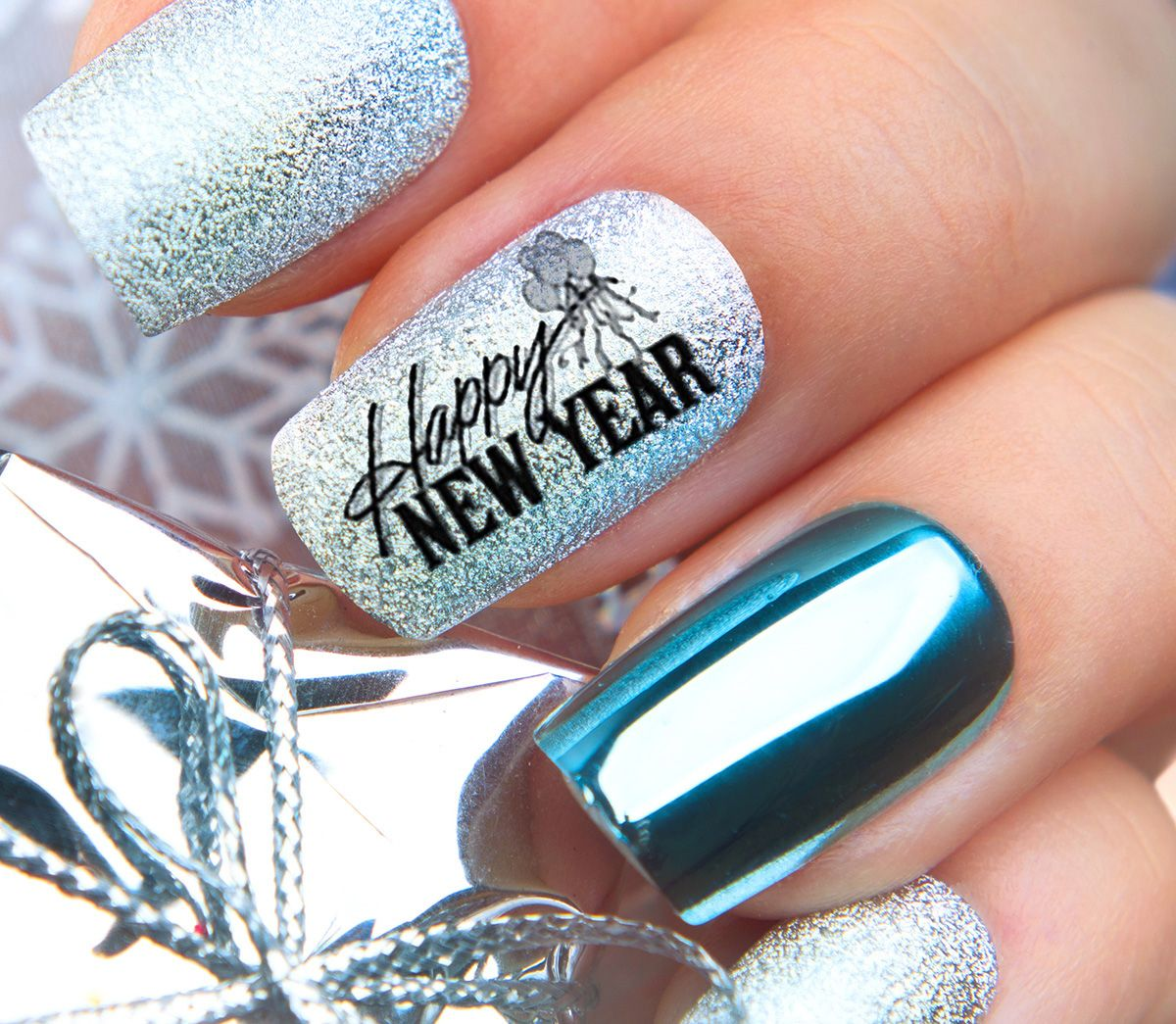 2019 New Year's Eve Nail Art Decals New years eve nails