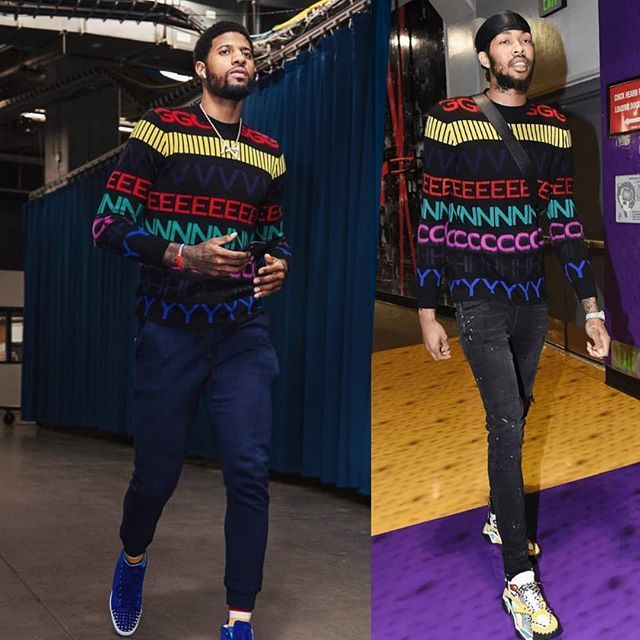 da4d08b07de WHO WORE IT BEST   PaulGeorge OR  BrandonIngram in  Givenchy logo print  sweater   Morethanstats