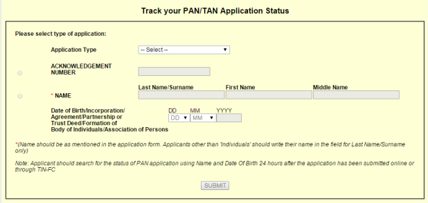 Know Your Pan Card Status By Name And Date Of Birth In 2016 Know Your Pan Person Name Status