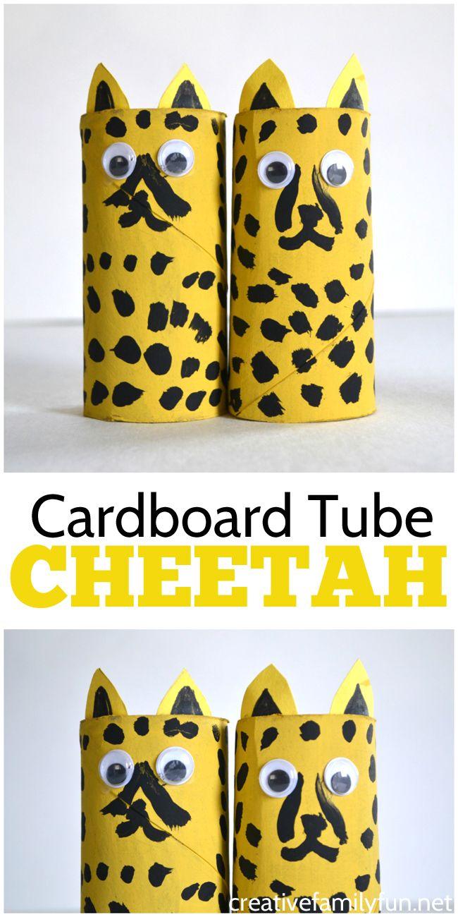 Cardboard Tube Cheetah Craft Creative Family Fun From The Blog